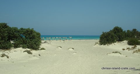 Golden Beach at Chrissi Island, Crete