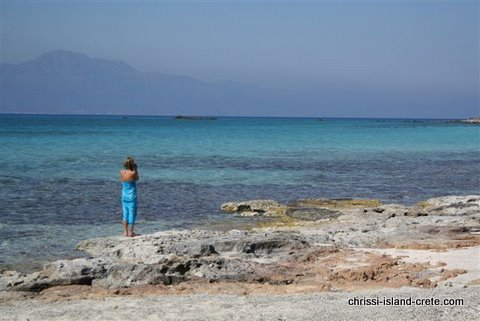 Alice at Chrissi Island